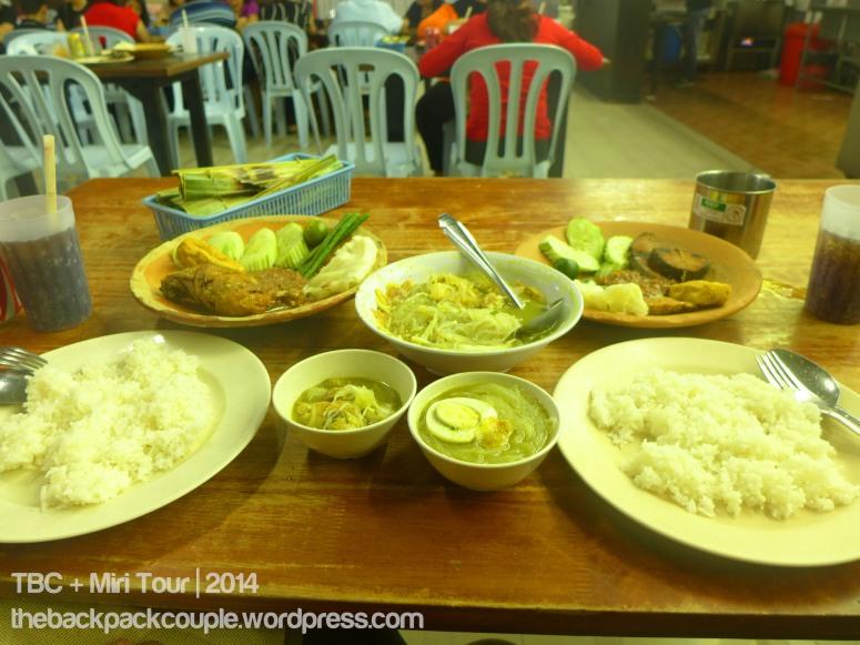 Lalapang sotong, lalapan ayam and soto for dinner!