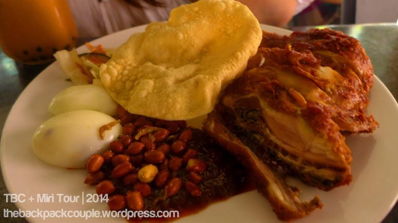 The famous Malaysian nasi lemak from Madli's.