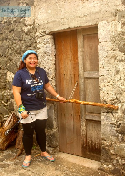 Batanes is known for its honest and trustworthy citizens. This is how they lock their doors in Chavayan -- yes, from the outside.
